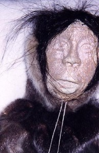 One of six puppets by Kugaaruk (Pelly Bay) elders, which were mailed to Rhode Island for repairs and seized by U.S. authorities for violating the Marine Wildlife Protection Act. The puppets were later returned (PHO