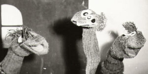 Sock Puppets Macbeth Black & White Photo