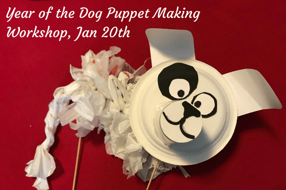 January: Year of the Dog rod puppet project