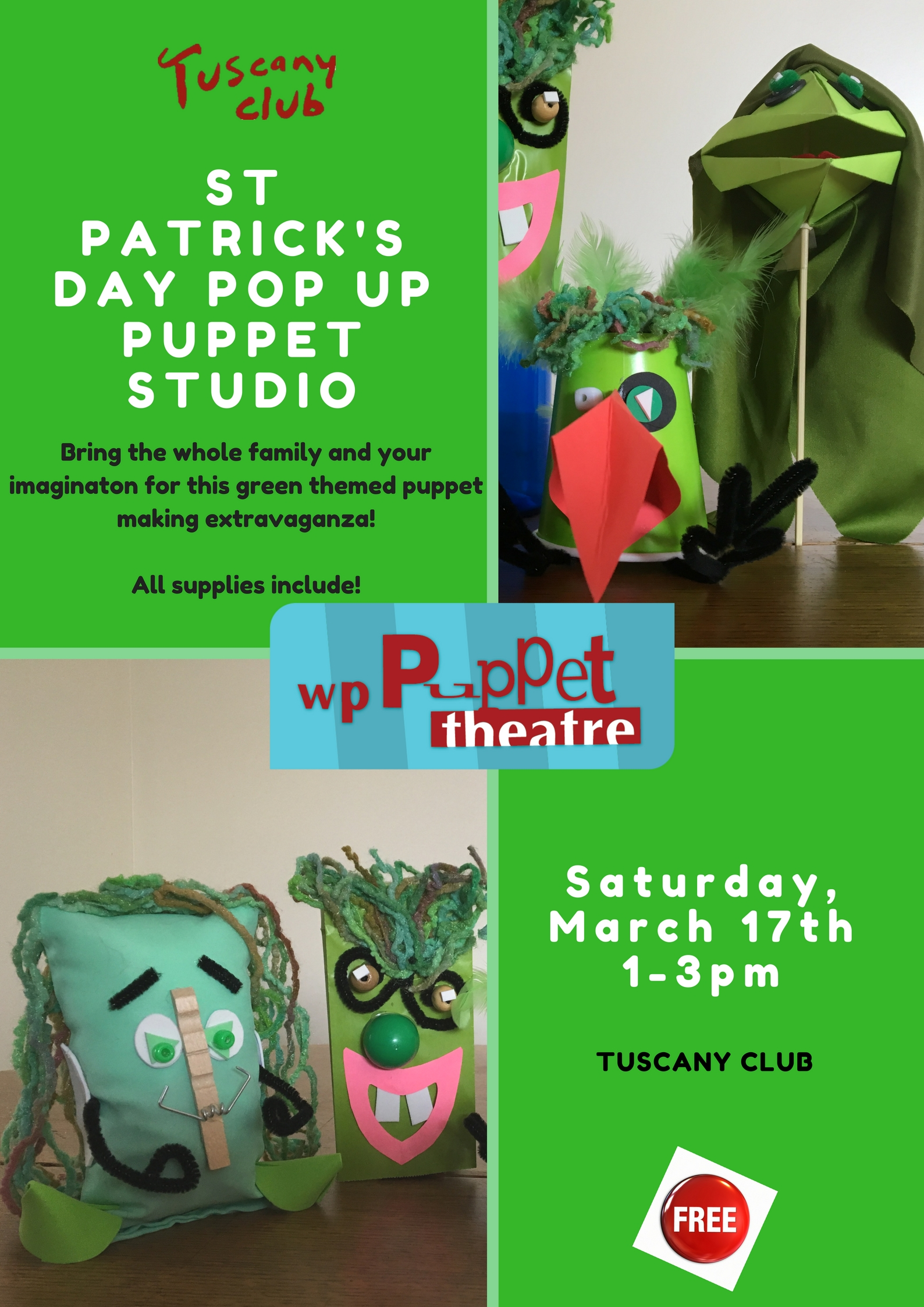 March: St Patrick's Day puppet projects