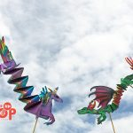 Paper Folded Dragons & Unicorns WP Puppet Theatre