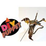 DIY Nature Puppet looks like a duck or bird puppet
