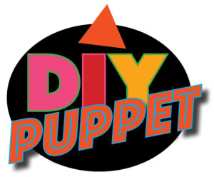 DIY Puppet Project Logo for WP Puppet Theatre in 90s style
