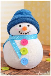 sock snowman kids holiday craft