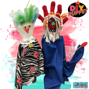 Colourful Rod Puppet DIY craft for example