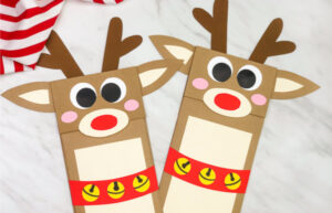 reindeer paper bag puppet craft
