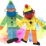Jumping People Puppets DIY