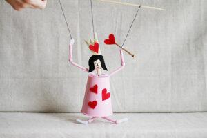 valentine puppet craft