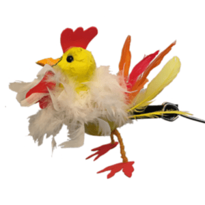 Colourful Chicken Puppet with white yellow and red