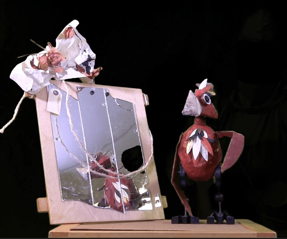 Bird with Mirror