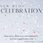 Confetti with text that says New Blog: Celebration